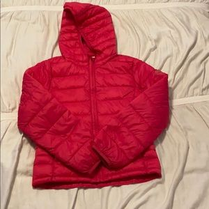 GAP Girls hot pink puffer jacket
